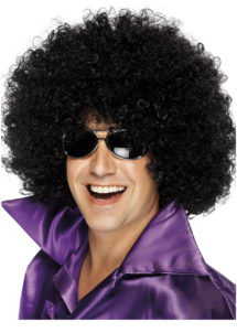 perruque disco, perruque afro noire, perruque disco homme, Perruque Afro Huge, Disco, Noire