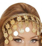 bandeau oriental déguisement, accessoire oriental déguisement, déguisement oriental, accessoire danseuse du ventre, déguisement oriental femme, collier oriental femme déguisement, coiffe orientale femme Bandeau de Tête Oriental, Pièces d'Or