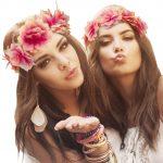 couronne de fleurs, accessoire fée déguisement, accessoire déguisement fée, accessoire hippie déguisement, accessoire déguisement hippie, accessoire couronne de fleurs, bandeau fleurs déguisement Bandeau Couronne de Fleurs, Vieux Rose