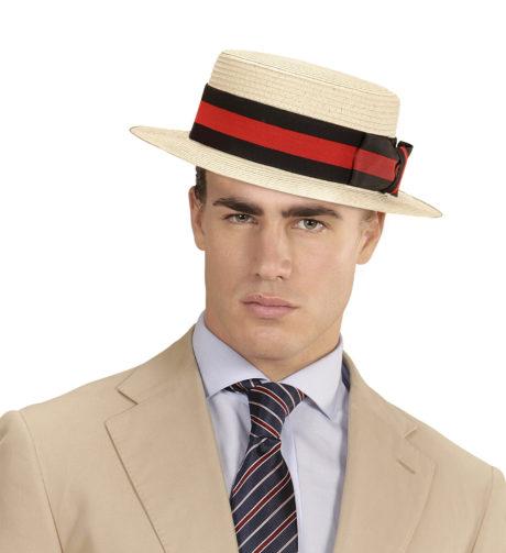 chapeau canotier, canotier en paille années 20, chapeau canotier luxe déguisement, accessoire canotier déguisement, canotier avec ruban déguisement, canotier déguisement années 30, Canotier Luxe, avec Ruban