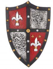 bouclier chevalier, bouclier accessoire médiéval, accessoire chevalier déguisement, bouclier de chevalier, déguisement chevalier homme, accessoire chevalier déguisement Bouclier de Chevalier, Fleur de Lys