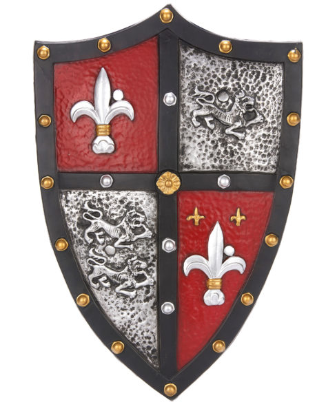 bouclier chevalier, bouclier accessoire médiéval, accessoire chevalier déguisement, bouclier de chevalier, déguisement chevalier homme, accessoire chevalier déguisement, Bouclier de Chevalier, Fleur de Lys