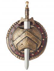 bouclier romain, accessoire romain gladiateur, bouclier accessoire déguisement, accessoire déguisement romain, épée et bouclier accessoire déguisement, accessoire romain déguisement, bouclier romain déguisement Bouclier et Glaive Romain, Spartiate