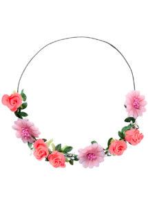 couronne de fleurs, accessoire fée déguisement, accessoire déguisement fée, accessoire hippie déguisement, accessoire déguisement hippie, accessoire couronne de fleurs, bandeau fleurs déguisement, Bandeau Couronne de Fleurs, avec Feuilles