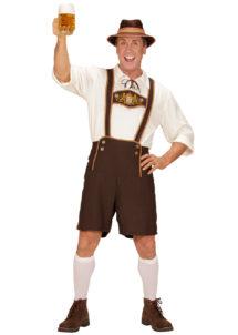déguisement bavarois homme, costume bavarois homme, déguisement tyrolien homme, costume tyrolien homme, salopette bavaroise déguisement, déguisement homme, déguisement fête de la bière, déguisement oktoberferst, Déguisement Bavarois, Lederhosen et Chemise
