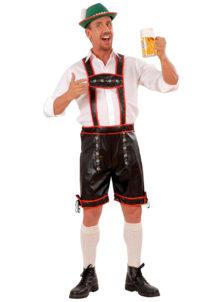 déguisement bavarois homme, costume bavarois homme, déguisement tyrolien homme, costume tyrolien homme, salopette bavaroise déguisement, déguisement homme, déguisement fête de la bière, déguisement oktoberferst, Déguisement Bavarois, Lederhosen Simili Cuir