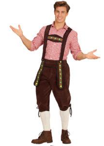 déguisement bavarois homme, costume bavarois homme, déguisement tyrolien homme, costume tyrolien homme, salopette bavaroise déguisement, déguisement homme, déguisement fête de la bière, déguisement oktoberferst, Déguisement Bavarois, Salopette Marron