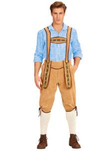 déguisement bavarois homme, costume bavarois homme, déguisement tyrolien homme, costume tyrolien homme, salopette bavaroise déguisement, déguisement homme, déguisement fête de la bière, déguisement oktoberferst, Déguisement Bavarois, Salopette Crème
