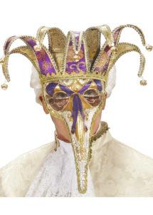 masque vénitien joker, masque joker carnaval, loup carnaval de venise, loup pour homme, Loup Naso Vénitien