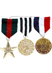 accessoire militaire déguisement, fausses médailles militaires déguisement, déguisement militaire, accessoire médailles, fausses décorations déguisement militaire, Décorations Médailles Militaires sur Barrette