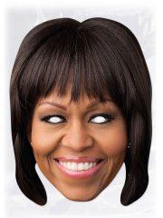 masque célébrités carton, masque politique carton, masque politique déguisement, masque célébrité déguisement, masque michèle obama, masque obama déguisement, masques déguisements, masque politique photo Masque Michelle Obama