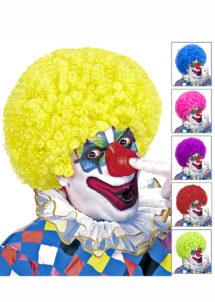 perruque de clown, perruque frisée de clown, Perruque de Clown, 6 Couleurs