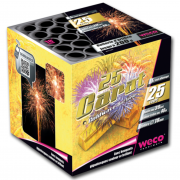 feux d'artifices 25 Carats, feux d'artifice automatiques, achat feux d'artifice paris, feux d'artifices compacts, feux d'artifices weco Feux d'Artifices, Compacts, 25 Carats