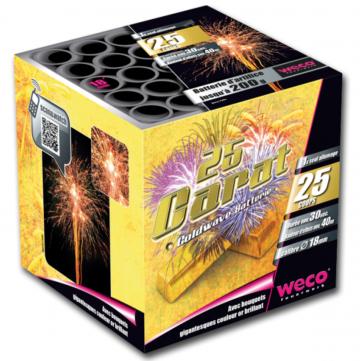 feux d'artifices 25 Carats, feux d'artifice automatiques, achat feux d'artifice paris, feux d'artifices compacts, feux d'artifices weco Feux d'Artifices, Compacts, 25 Carats