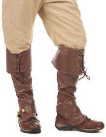 surbottes, accessoires pirates déguisement, accessoire médiéval déguisement, chaussures médiévales, chaussures déguisements, Surbottes Simili Cuir Marron, Pirate et Médiéval