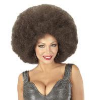 perruque afro disco, accessoire perruque déguisement, perruque afro disco, perruque pour homme, perruque pas chère, perruque de déguisement, perruque homme, perruque noire, perruque afro Perruque Afro Extra Volume, Châtain