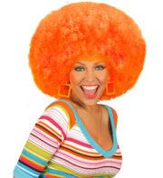 perruque de clown, perruque afro disco, accessoire perruque déguisement, perruque afro disco, perruque pour homme, perruque pour femme, perruque pas chère, perruque de déguisement, perruque unisexe, perruque orange, perruque afro Perruque Afro Disco, Orange