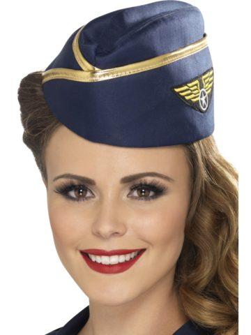 chapeau hotesse de l'air, déguisement hotesse de l'air, calot d'hôtesse de l'air, chapeau pilote déguisement, déguisement pilote, hôtesse de l'air Calot d'Hôtesse de l'Air, Bordure Dorée
