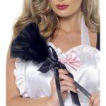 plumeau de soubrette, accessoire déguisement soubrette, accessoire soubrette déguisement, faux plumeau déguisement, accessoire soubrette déguisement Plumeau de Soubrette, Plumes Noires