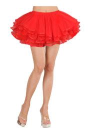 tutu rouge, tutu de danseuse, déguisement tutu, accessoire déguisement tutu, accessoire tutu déguisement Tutu Liserés Satinés, Rouge