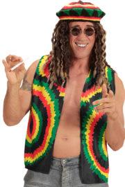déguisement rasta, rasta déguisement, accessoire déguisement rastas, déguisement bob marley, rastas déguisement Gilet Rasta, Bob Rasta Man
