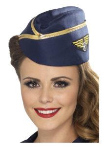 chapeau hotesse de l'air, déguisement hotesse de l'air, calot d'hôtesse de l'air, chapeau pilote déguisement, déguisement pilote, hôtesse de l'air, Calot d'Hôtesse de l'Air, Bordure Dorée