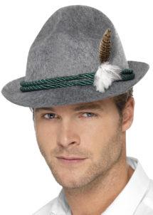 chapeau bavarois, chapeaux tyroliens, accessoires déguisement bavarois, chapeaux tyrol, chapeaux paris, chapeau oktoberfest, Chapeau de Bavarois, avec Plume