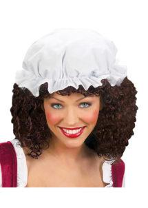 charlotte bonnet, bonnet de nuit, déguisement moyen âge, accessoire médiéval, bonnet en coton, charlotte pour cheveux, Charlotte en Coton Blanc, Petit Bonnet
