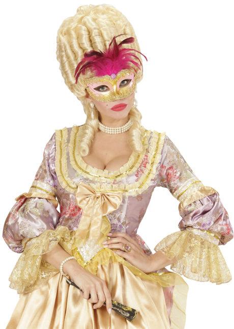 masque vénitien, loup vénitien, loup vénitien plumes, masque carnaval de Venise, masque vénitiens, vénitien à plumes, loup vénitiens plumes, loup vénitien femme, Loup Baby Royal, Rose à Plumes