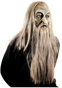 masque vieux en latex, masque horreur en latex, masque vieux avec cheveux, masque de monstre, masque de déguisement, masque déguisement halloween, accessoire déguisement masque, accessoire masque déguisement, masque de vieux halloween, Masque d'Ancêtre en Latex