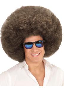 perruque disco, perruque afro châtain, perruque disco homme, Perruque Afro Extravolume, Châtain