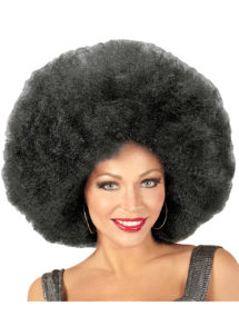 perruque disco, perruque afro noire, perruque disco femme, Perruque Afro Extra Volume, Noire