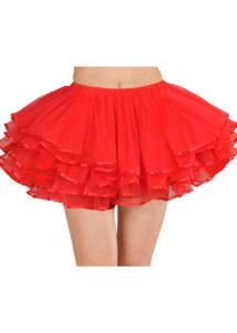 tutu rouge, tutu de danseuse, déguisement tutu, accessoire déguisement tutu, accessoire tutu déguisement, Tutu Rouge, Tulle et Liserés Satinés