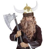 casque de viking, accessoire déguisement viking, accessoire viking déguisement, viking déguisement, chapeau de viking, cornes de viking Casque de Viking, Fausse Fourrure