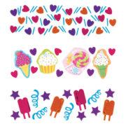 confettis de table, décorations de table, confettis anniversaires, décorations cup cake Confettis de Table, Cup Cakes Sucrés