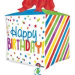 ballon hélium, ballon anniversaire, ballon happy birthday, ballon décoration anniversaire, ballon original pour anniversaire Ballon Aluminium, Anniversaire, Cube Birthday Cadeau