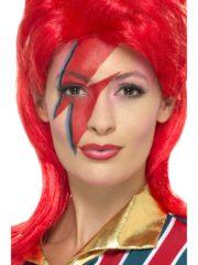 maquillage david bowie ziggy stardust, déguisement david bowie ziggy stardust, perruque rouge david bowie, david bowie ziggy stardust déguisement Kit Maquillage Bowie Ziggy Stardust