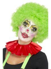 colerette de clown, fraise de clown, fraise en tissu, faux col, accessoire clown déguisement, déguisement de clown, faux col de clown Faux Col Fraise de Clown, Rouge