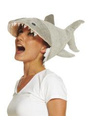 chapeau poisson, chapeau requin, chapeau original, chapeau humoristique, accessoire humour, déguisement requin, déguisement thème de la mer Chapeau Requin