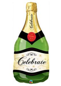 ballon bouteille de champagne, ballon hélium, ballon aluminium, ballon mylar, ballon anniversaire, ballon à l'hélium, ballon réveillon, Ballon Bouteille de Champagne, en Aluminium