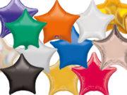 ballon étoile, ballon aluminium, ballon mylar, ballons étoiles anniversaires, ballons en forme d'étoile, ballon hélium Ballon Aluminium, Etoile «Amsca», 12 Couleurs