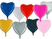 ballon hélium, ballons coeurs, ballon en forme de coeur, ballons mylar,ballon coeur, ballon à l'hélium Ballon Aluminium, Coeur «Apta», 9 couleurs