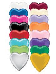 ballon hélium, ballons coeurs, ballon en forme de coeur, ballons mylar,ballon coeur, ballon à l'hélium Ballon Aluminium, Coeur «Uniq», 14 couleurs