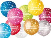 ballon anniversaire, ballon géant, ballon baudruche, ballon hélium, ballons joyeux anniversaires, décorations anniversaire Ballon en Latex, Joyeux Anniversaire, 80 cm, 14 Couleurs