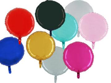 ballon hélium, ballon aluminium, ballon mylar, ballons anniversaire, ballon métal, ballons ronds aluminium Ballon Aluminium, Cercle «Apta», 9 Couleurs