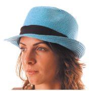 chapeau, borsalino, chapeaux borsalino, accessoires chapeaux, chapeaux paris, chapeaux tissu, chapeau vacances, chapeau bleu Chapeau Borsalino Fedora, Bleu Ciel