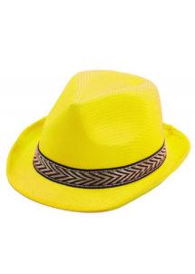 chapeau, borsalino, chapeaux borsalino, accessoires chapeaux, chapeaux paris, chapeaux forme année 30, chapeau jaune, Chapeau Borsalino Teddy, Jaune