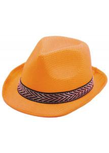 chapeau, borsalino, chapeaux borsalino, accessoires chapeaux, chapeaux paris, chapeaux forme année 30, chapeau orange, Chapeau Borsalino Teddy, Orange