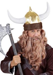 casque de viking, accessoire déguisement viking, accessoire viking déguisement, viking déguisement, chapeau de viking, cornes de viking, Casque de Viking, Fausse Fourrure