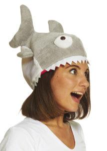 chapeau poisson, chapeau humour, chapeau humoristique, déguisement poisson accessoire, chapeau piranha, déguisement de poisson, thème de la mer, Chapeau Piranha